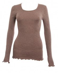 Moretta wool & silk long-sleeved sabbia top (SABBIA)