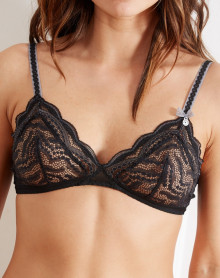 Bra without underwire Barbara Aventure (Black)
