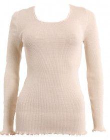 Moretta lana y la seda sabbia de manga larga