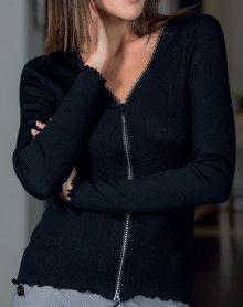 Gilet Moretta laine & soie