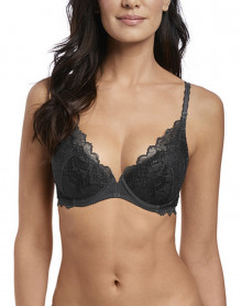 Sujetador push-up Wacoal Lace Perfection (Charcoal)