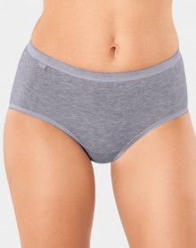 Slips midi Basic + (Lot de 4) gris