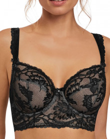 Underwire Long bra Fantasie Bronte (Black)