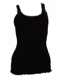 débardeur bretelles laine & soie Moretta 5760 noir