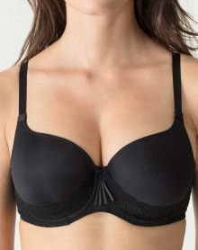 Padded bra heart shape Prima Donna Twist I Do (Black)