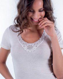 Camiseta manga larga y seda Lana Moretta