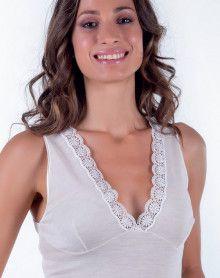 Débardeur bretelles laine & soie Moretta 5012