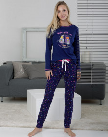 Blue pyjama 100% cotton Massana