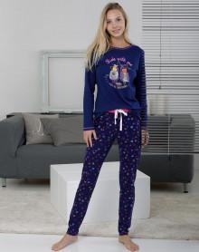 Pyjama 100% coton bleu Massana