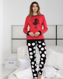 Pyjama rouge et noir Massana