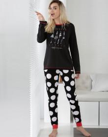 Pyjama noir Effect Massana