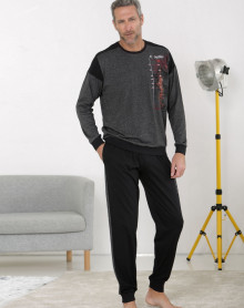 Pyjama grey jogging shape Massana