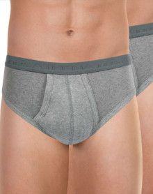 Pack of 2 Athena Organic Cotton open-waist briefs (Heather grey)