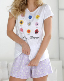 Pyjama short avec fleurs Massana